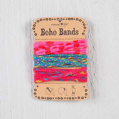 Pink polka dot boho bands