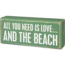Box sign - And The beach