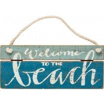 Slat Sign - Welcome Beach