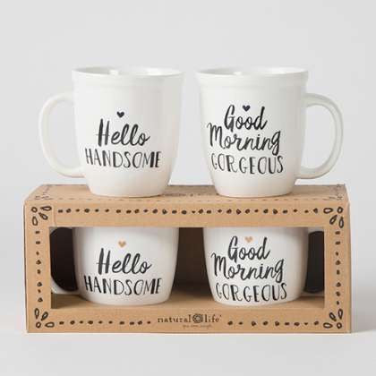 Gorgeous/handsome ceramic mug set