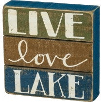 Slat Sign - Live Love Lake