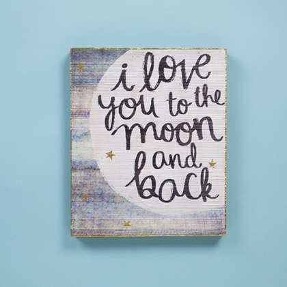 Bungalow Wall Art - Moon and Back