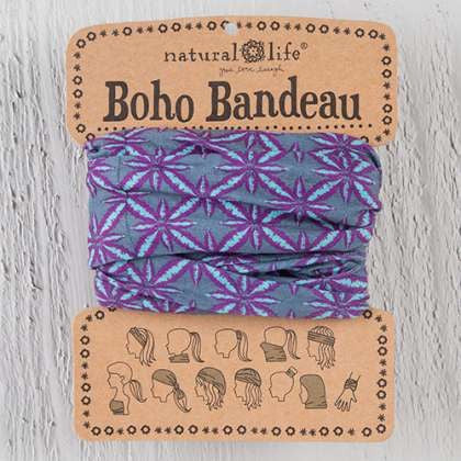 Boho Bandeau Aqua & Purple Bursts