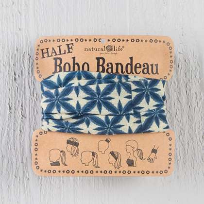 Half Boho Bandeau navy & cream bursts