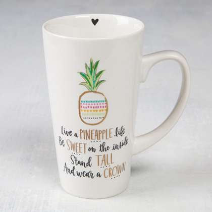 Latte mug - pineapple
