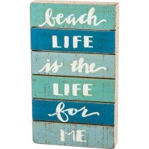 Slat Box Sign - Beach Life