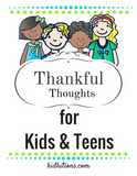 Thankful Thoughts for Kids and Teens