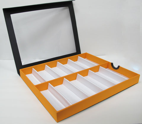 Frame Display Tray Clear Orange  12