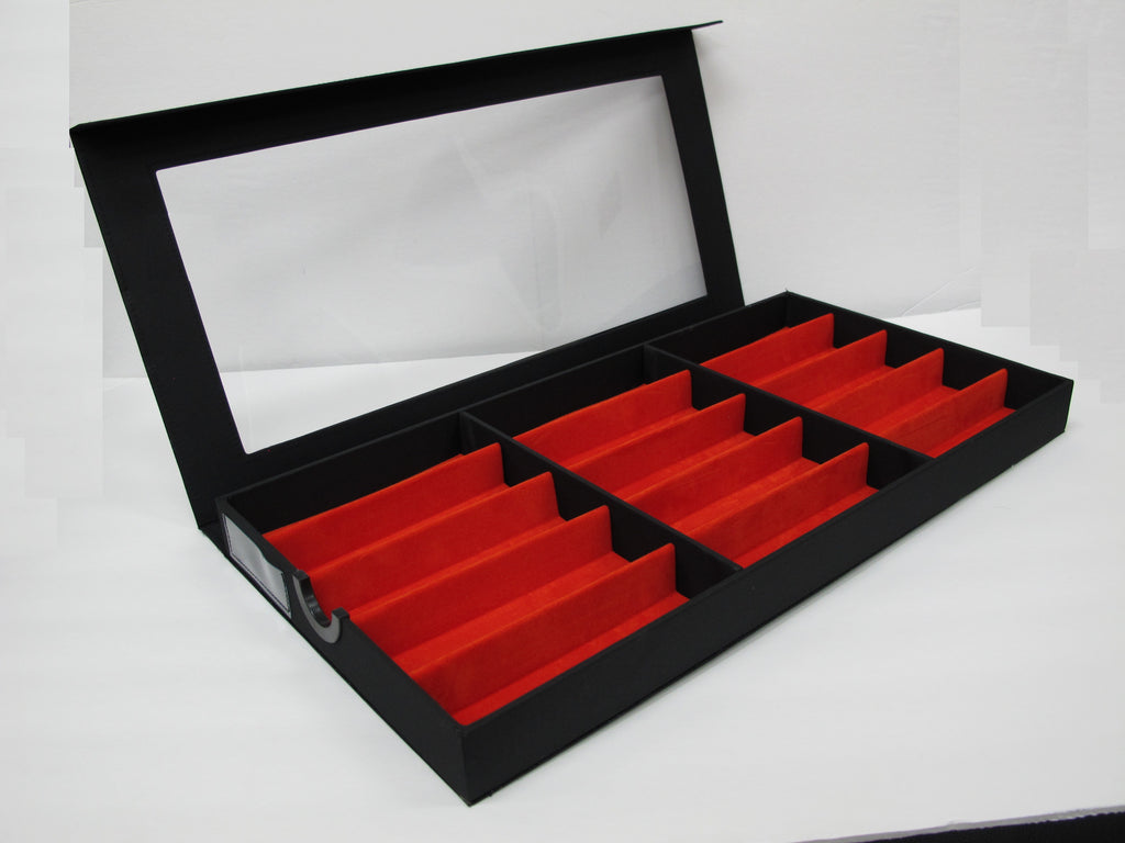 Frame Display Tray Clear Red 15
