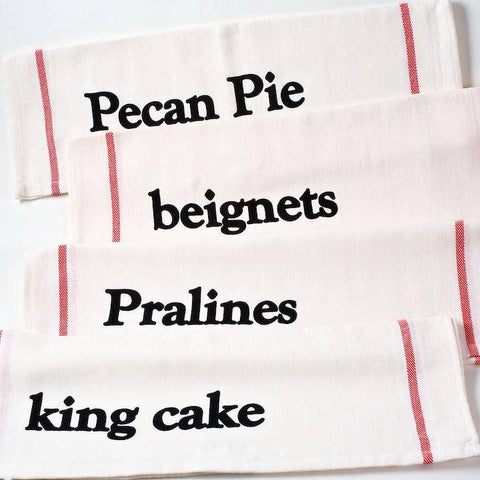 NOLA Tawk Set of 4 NOLA Sweets Dishtowels