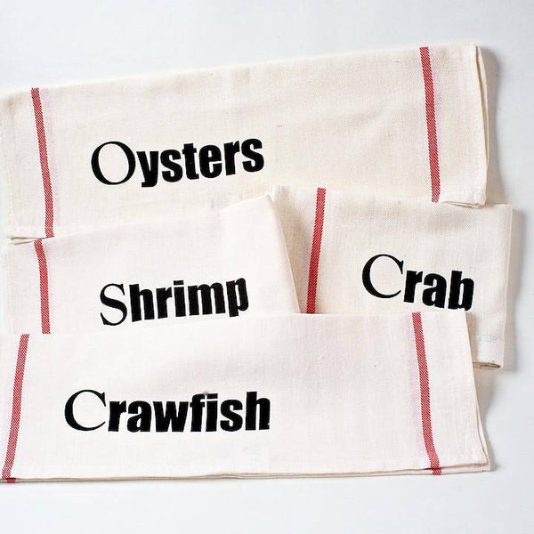 NOLA Tawk Set of 4 NOLA Seafood Dishtowels