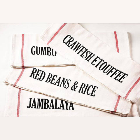 NOLA Tawk Set of 4 NOLA Dishes Dishtowels