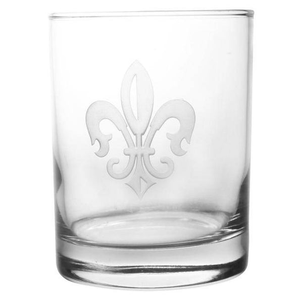 Rolf Glass Grand Fleur de Lis Double Old Fashioned