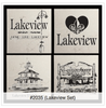 Set in Stone Set of 4 Lakeview Coasters