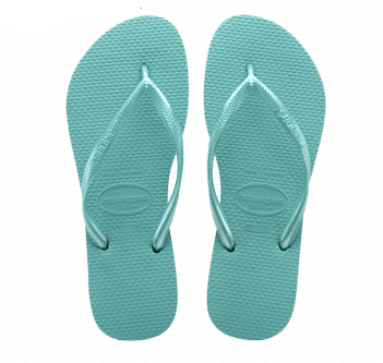 Havaianas Slim Flip Flop in Lake Green