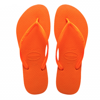 Havaianas Slim Flip Flop in Neon Orange