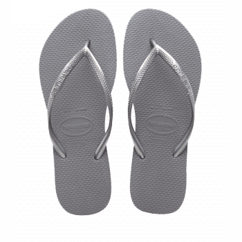 Havaianas Slim Flip Flop in Steel Grey