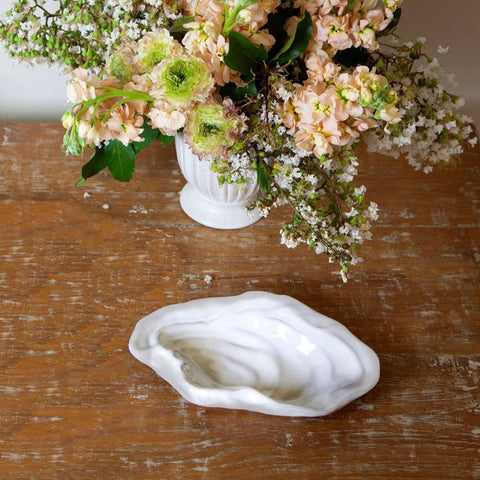 Beatriz Ball Ceramic White Oyster Bowls