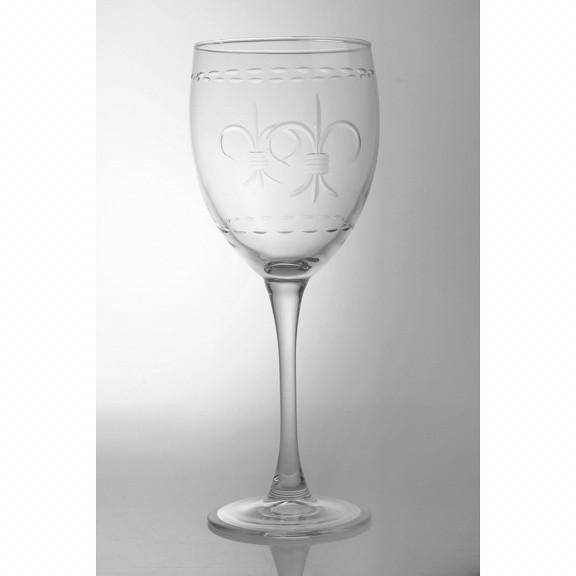 Rolf Glass Fleur de Lis Large Wine Glass