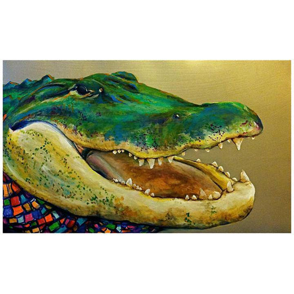 Toodle Lou Designs Mosaic Alligator Acrylic Painting