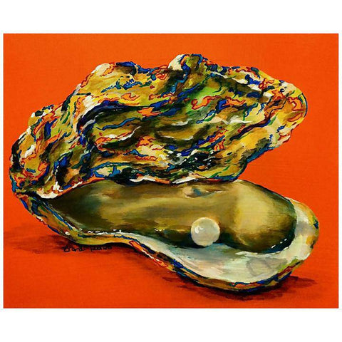 Toodle Lou Designs Mosaic Oyster Acrylic Painting
