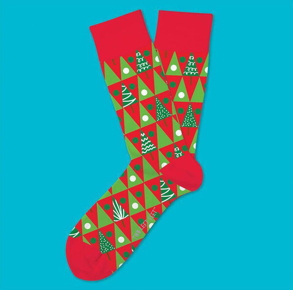 Two Left Feet Pine Grove Christmas Socks