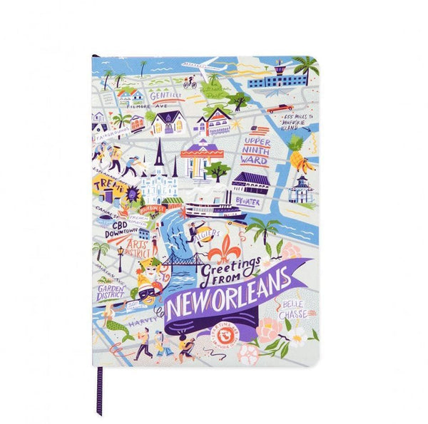 Spartina 449 Greetings From New Orleans Ruled Notebook
