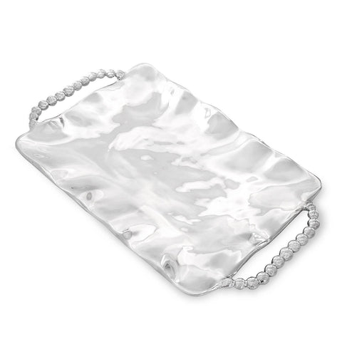 Beatriz Ball Pearl Perla Rectangular Tray with Handles