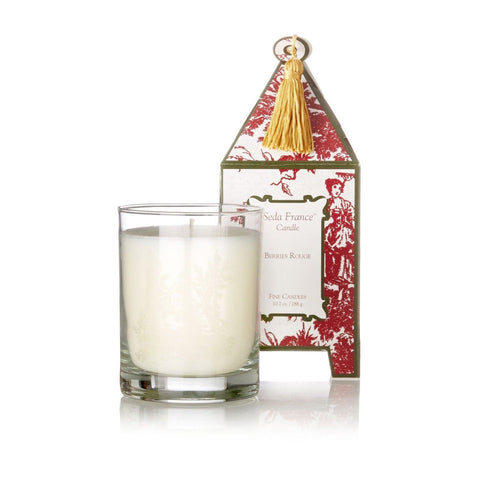 Seda France Berries Rouge Classic Toile Pagoda Box Candle