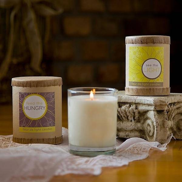 New Orleans See the Light, Feed the Hungry Candle by Fleur de Light