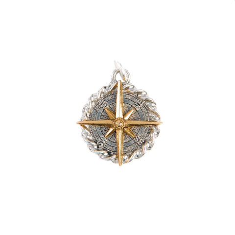 Beaucoup Designs Aimez Two Tone Charm, Compass