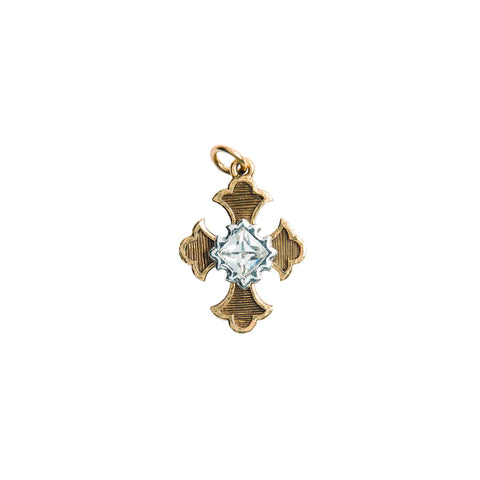 Beaucoup Designs Aimez Two Tone Charm, Gothic Cross