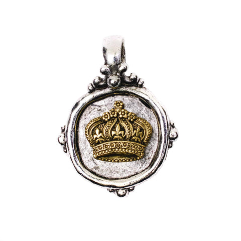 Beaucoup Designs Aimez Two Tone Charm, Crown