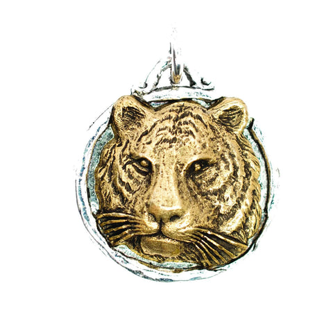 Beaucoup Designs Aimez Two Tone Charm, Tiger