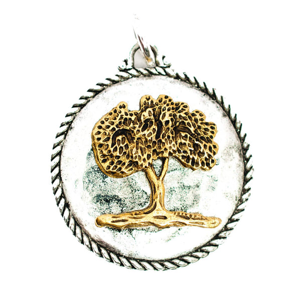 Beaucoup Designs Aimez Two Tone Charm, Tree