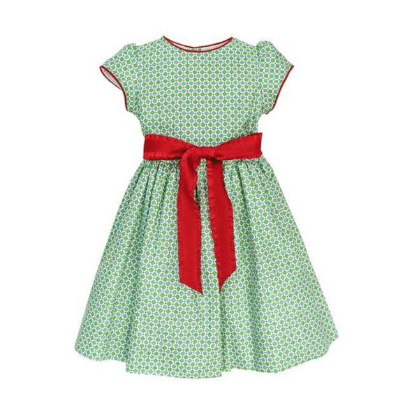 Bailey Boys Santa Collection Green Diamond Girls Empire Dress