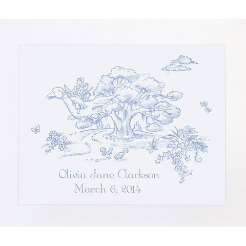 Maison NOLA Storyland Toile Personalized Print, Mother Goose