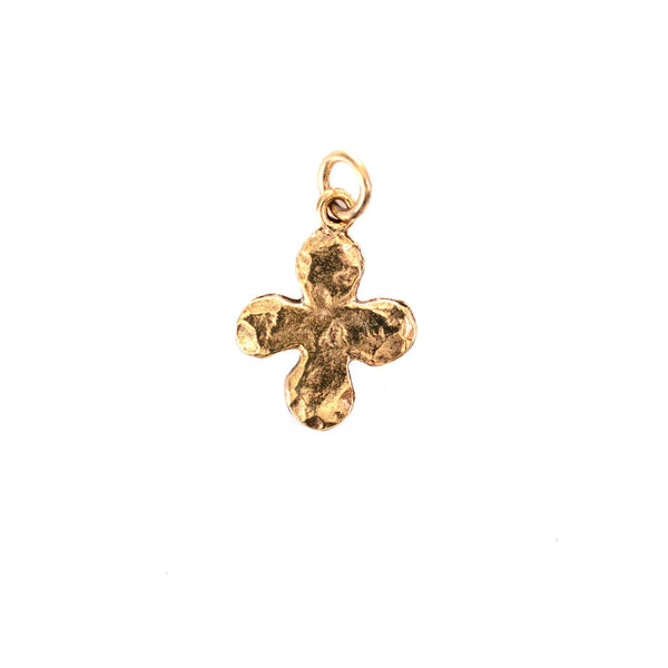 Beaucoup Designs Character Charm, Hammered Cross