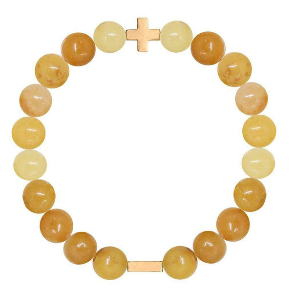 Charged Citrine & Gold Elastic Bracelet