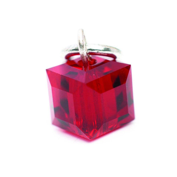 Beaucoup Designs Tiny Swarovski Birthstone Charm - Silver