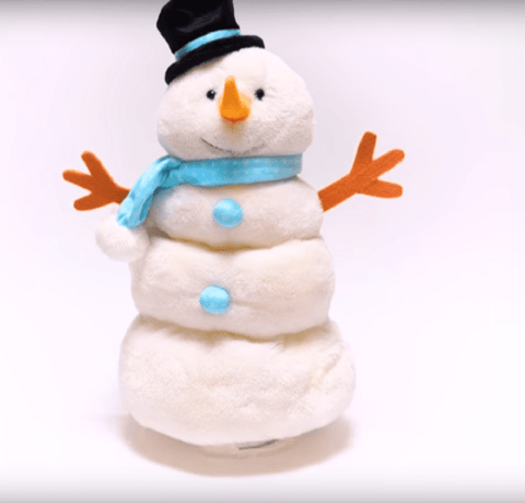 Cuddle Barn Plush Christmas Toy Snowman