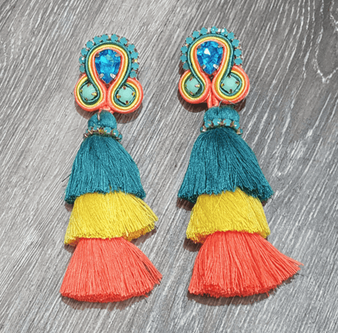 Treasure Jewels Fiesta Tassel Earrings