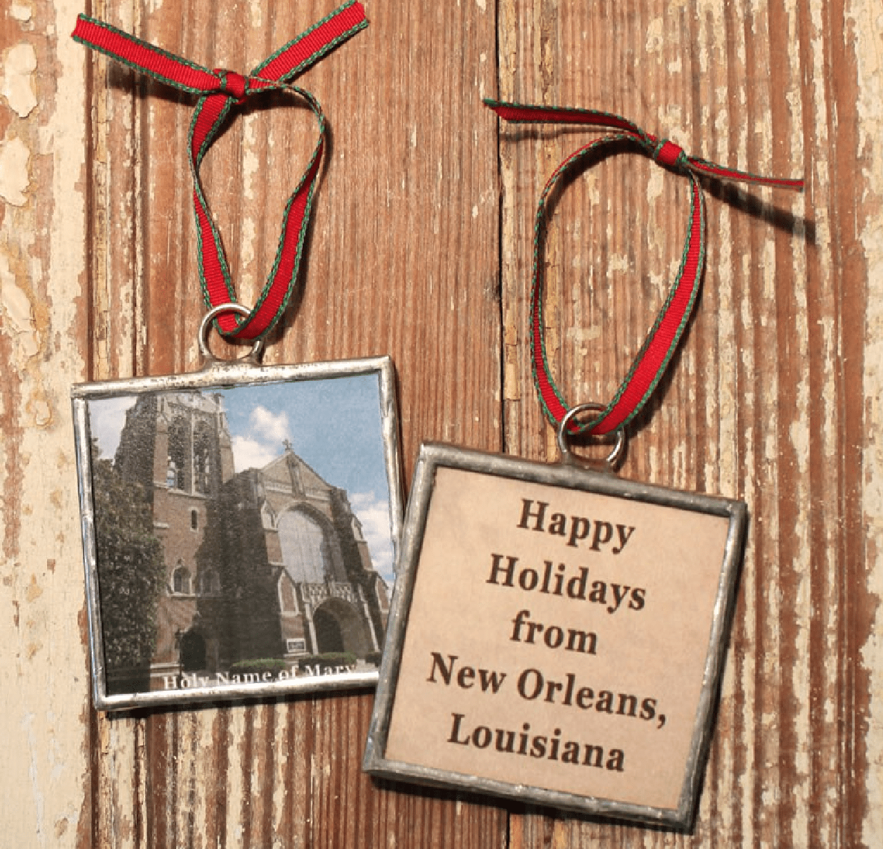 New Orleans Christmas Ornaments.Heather Elizabeth Designs New Orleans Churches Christmas