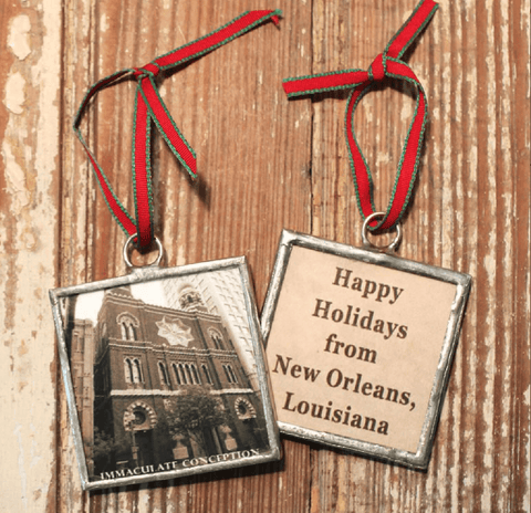 Heather Elizabeth Designs New Orleans Churches Christmas Ornaments