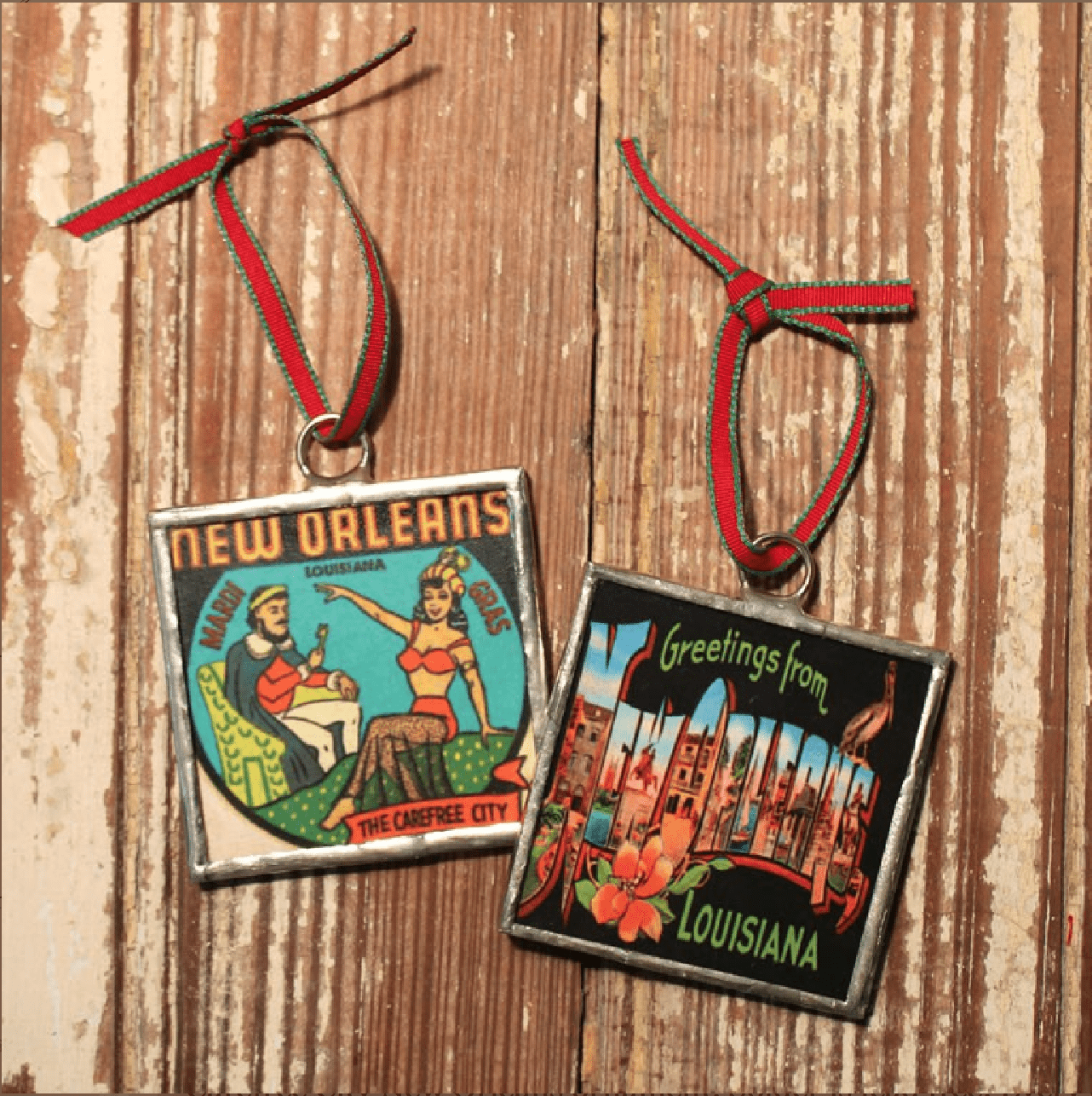 New Orleans Christmas Ornaments.Heather Elizabeth Designs Iconic New Orleans Christmas