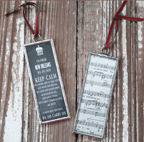 Heather Elizabeth Designs New Orleans Vertical Christmas Ornaments
