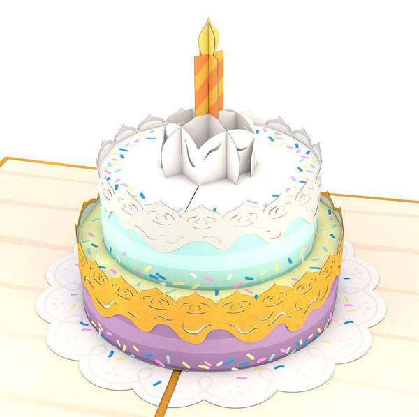 Lovepop Happy Birthday Cake 3D Card Little Miss Muffin Children Home