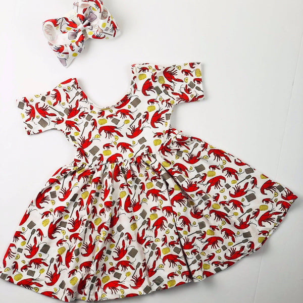 NOLA Tawk Crawfish Organic Cotton Dress