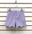 Vive La Fete Pink & Royal Plaid Shorts with Scalloped Hem