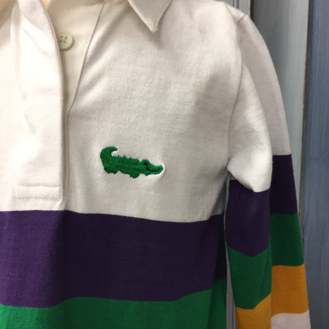 Me Me's Long Sleeve Mardi Gras Rugby Shirt